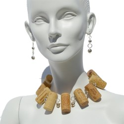 Necklace made with recycled...