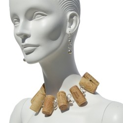 Necklace made with recycled corks