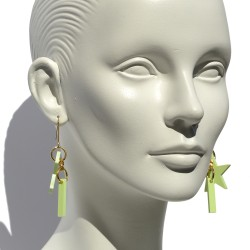 Light green Star earrings...