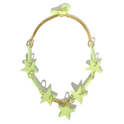 Light green stars necklaces...