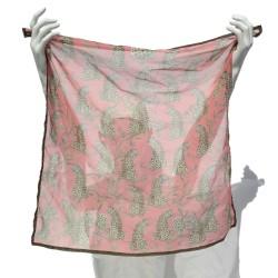 Foulard Guepardos sobre rosa