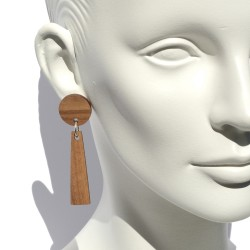 Wooden Exclamation point earrings San Fabrizzio