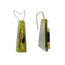 San Fabrizzio translucent green Trapecio earrings