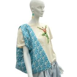 Big Azuma-Bukuro bag Turquoise