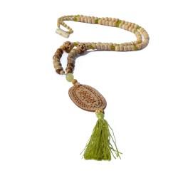 Collar Kokoro Hueso y Verde