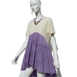 T-shirt - Minidress Lilac
