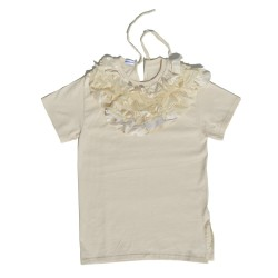 T-shirt Cream Ruffles