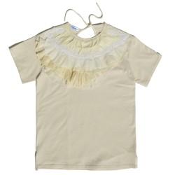 T-shirt ruffles and lace