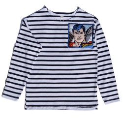 Kids Striped T-shirt with Superman