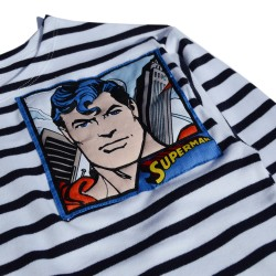 detail quilted superman