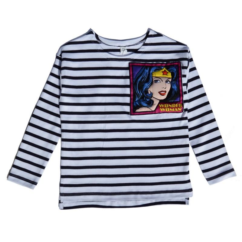 Kids Striped T-shirt with wonder woman