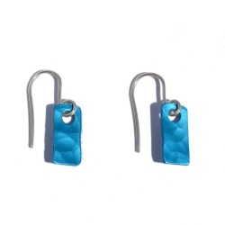Blue Aluminium Small Earrings