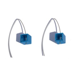 Blue Aluminium cubic Earrings