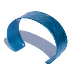 Pulsera aluminio martelé azul