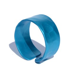 Blue hammered Aluminum Ring