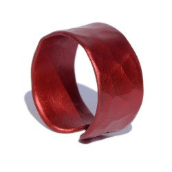 Red hammered Aluminum Ring