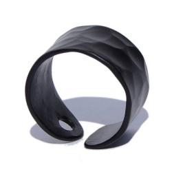 Anillo aluminio martelé Negro