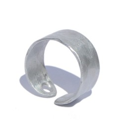 Anillo aluminio martelé blanco