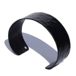 Narrow black Aluminum bracelet