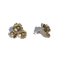 Bronze three flower earring