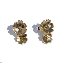Bronze two flower earring