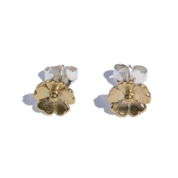 Bronze one flower earring