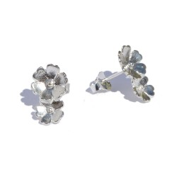 Sterling silver two flower...