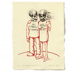 Dos esqueletos que se tocan