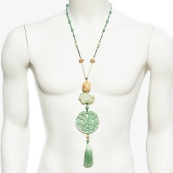 Necklace Kokoro Jade Green