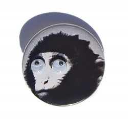 Monkey with little eyes pin