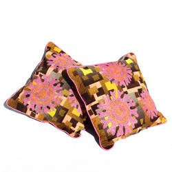 Cushion cover in pagne -...