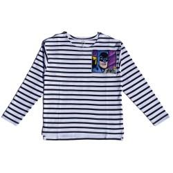 Kids Striped T-shirt with batman