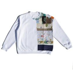 White Sweatshirt with...