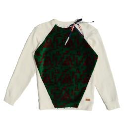 Cream Sweatshirt with...