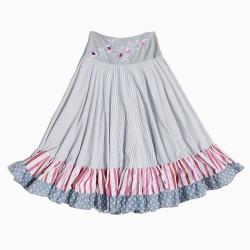 Falda de tejidos upcycling