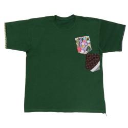Camiseta verde manga corta...