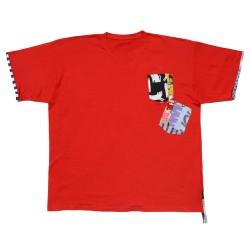 Camiseta roja manga corta...