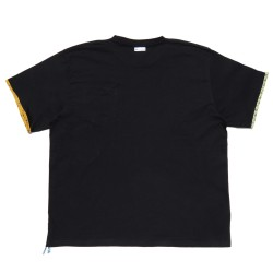 Navy blue Short-sleeve T-shirt with two patchworks pockets S