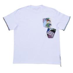 White short-sleeve T-shirt...