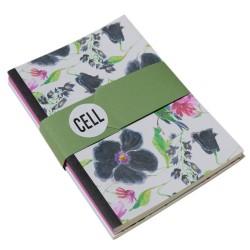 Black Poppy Ivory Notebook