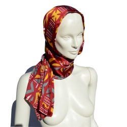 Bordeaux Silk Foulard
