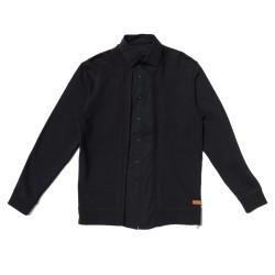 Sudadera Trampantojo negra camisa