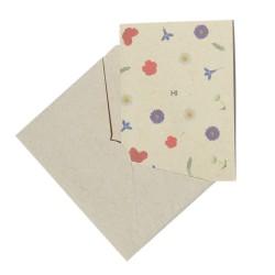 """""""Hi"""" card made of Bee Saving Paper adn envelope"""