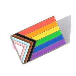 Pin de esmalte de la Bandera Progresista Daniel Quasar LGTBIQ