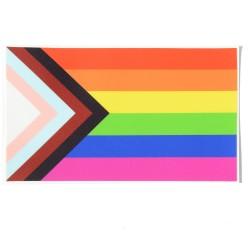 Pegatina Bandera Progresista LGTBQI de Daniel Quasar