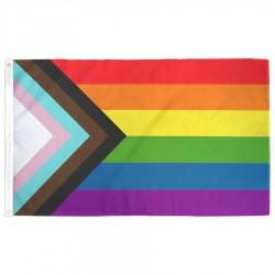 Progress Pride Flag designed by Daniel Quasar