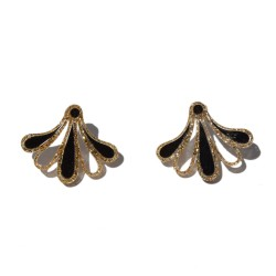 Gold and black plexi Earrings