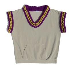 Beige oversized vest