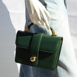 Classic Green Leather Bag