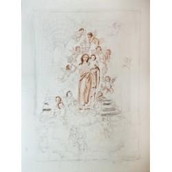 Boceto Virgen de las Nieves